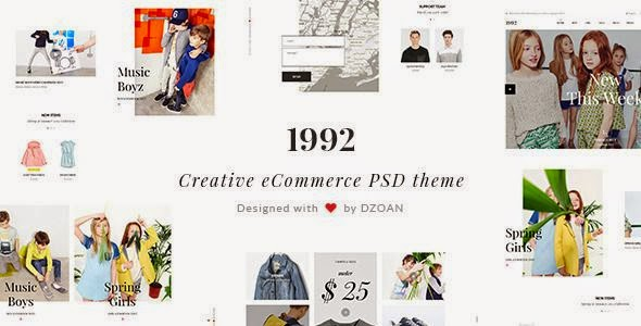 1992 | Creative eCommerce PSD Theme