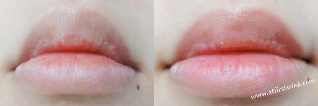 nanas 'B berry yogurt tint on lips