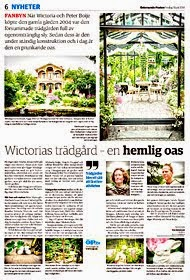 Reportage från min trädgård i ÖstersundsPosten Juli 2014