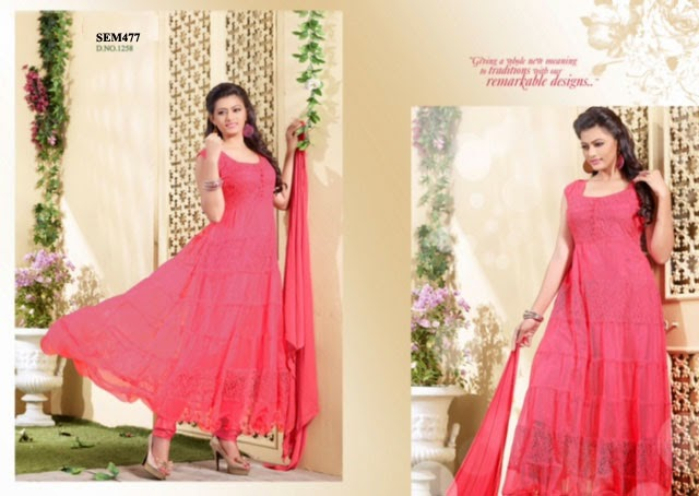 Buy Online Net Long Anarkali Suit – Supplier