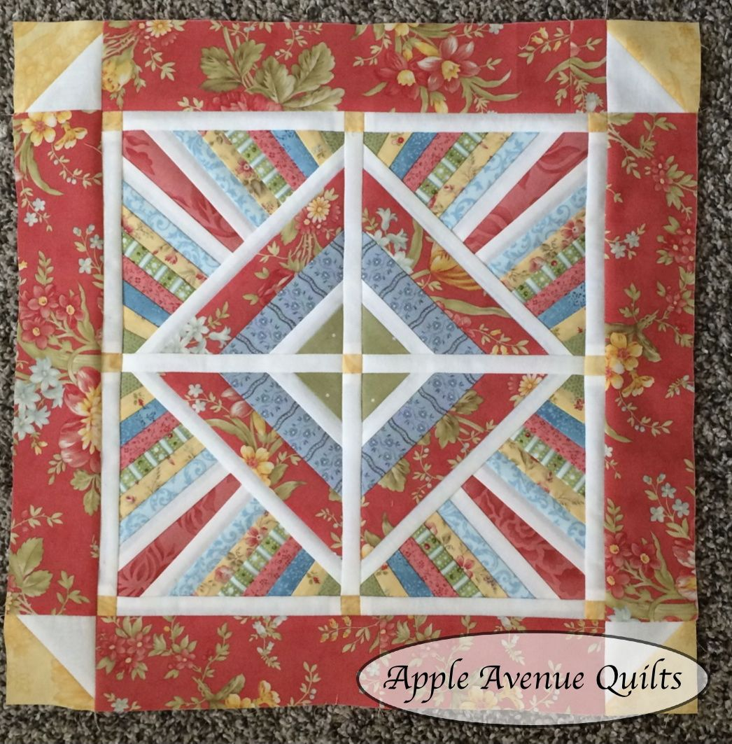 Apple Avenue Quilts: July s Miniature and Small Quilt with a Free Pattern