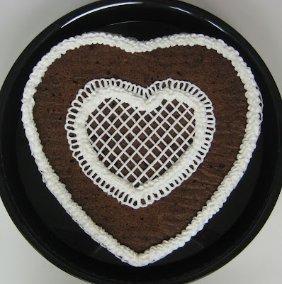 Valentine's Day Heart Shaped Cookie Cake - Overhead View