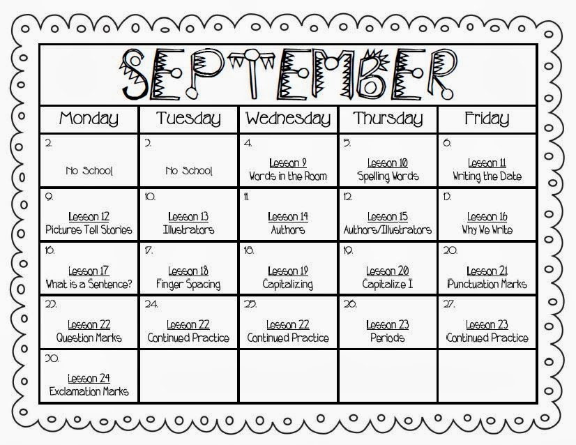 Teaching With Terhune Lesson Planning - Monthly lesson plan template