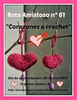 Reto Nª61  Corazones a crochet