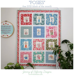 Download the free monthly 2021 patterns for POSIES