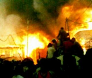 Api Amuk Desa Rampa Kotabaru