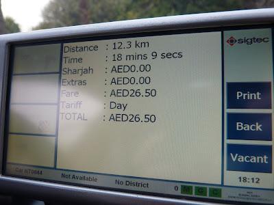 taxi en Dubai