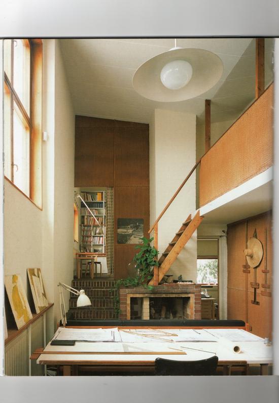 Historia de la arquitectura moderna casa estudio alvar for Casa estudio arquitectura