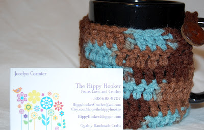the, hippy, hooker, mug, cozy, brown, multicolored
