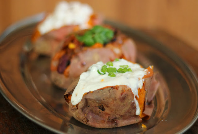 Baked Sweet Potato Toppings recipe