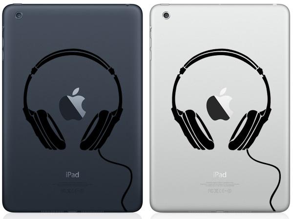 Headphones iPad Mini Decals