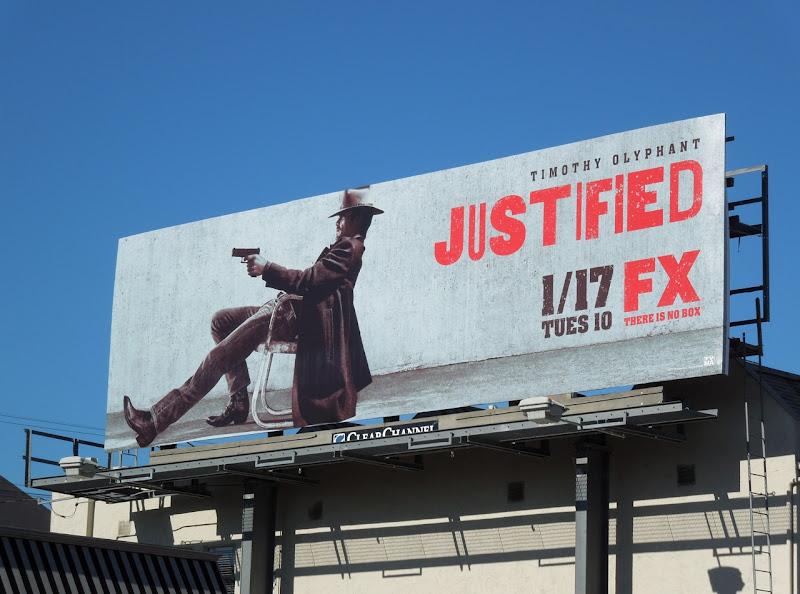 Justified season 3 TV billboard