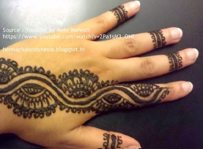 Henna Club Indonesia Step By Step Simple Mehndi Design 2