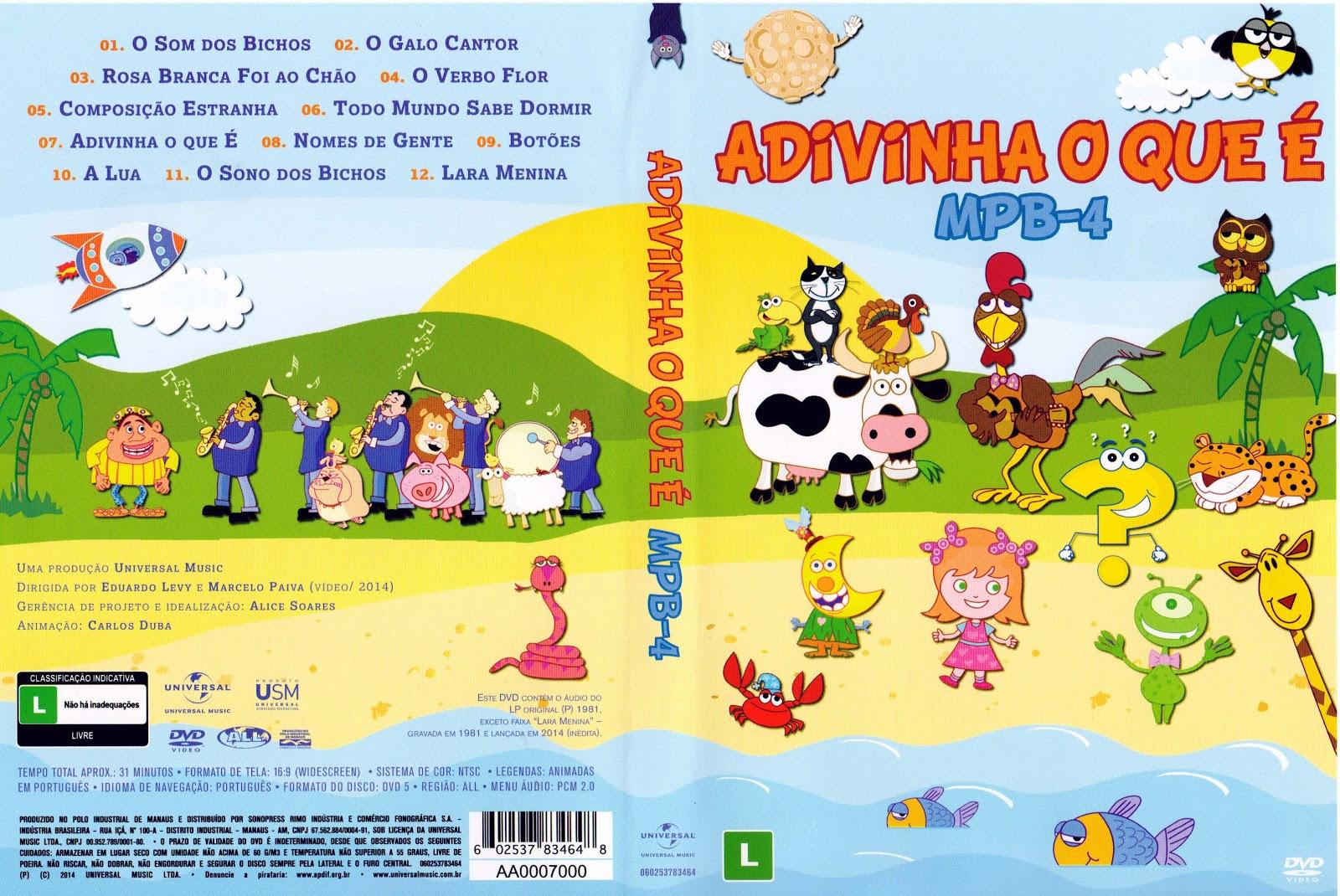 Capa DVD Adivinha O Que É MPB 4