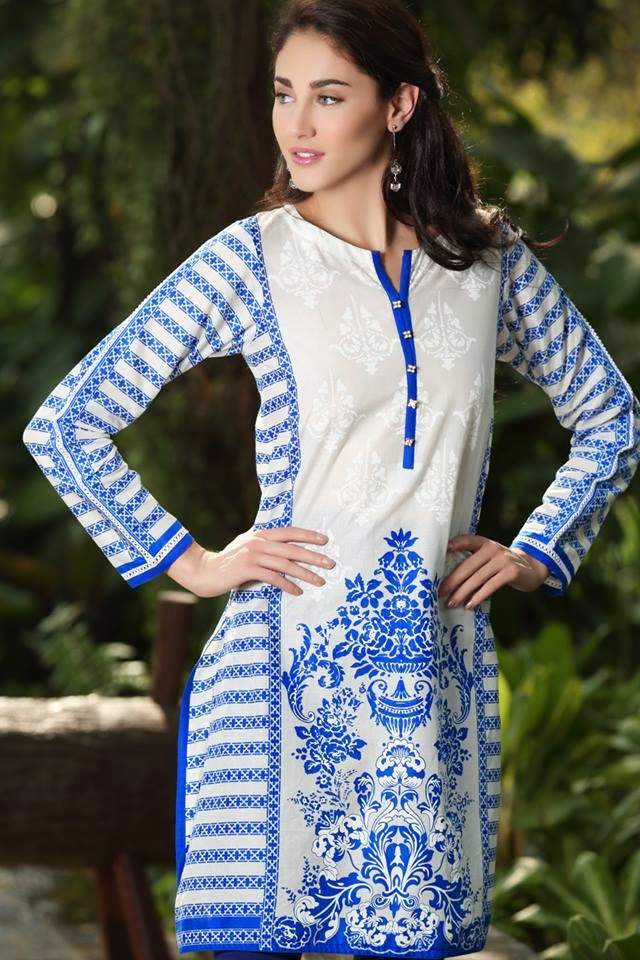 Summer, Party Wear, New, Printed, Kurta For Girls.