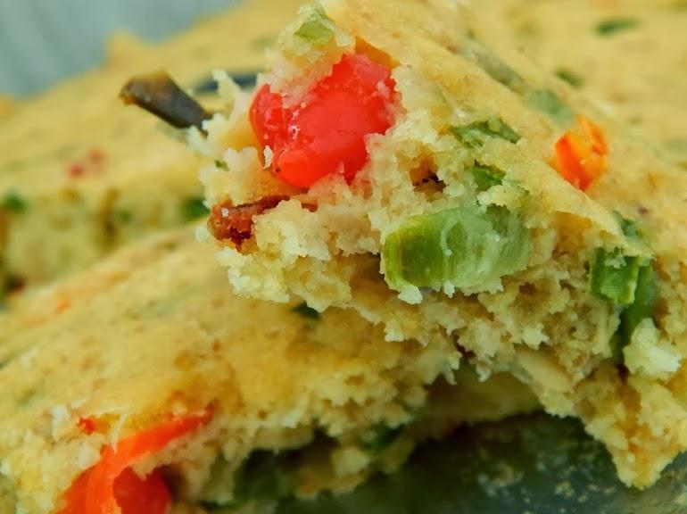 Torta de Farinha de Milho e Abobrinha (vegana)