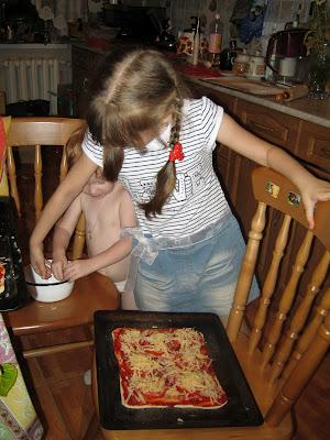 Готовим пиццу вместе с детьми