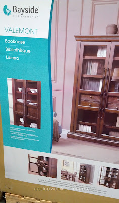 Enhance the decor of your loving room with the rustic look of the Bayside Furnishings Valemont Bookcase