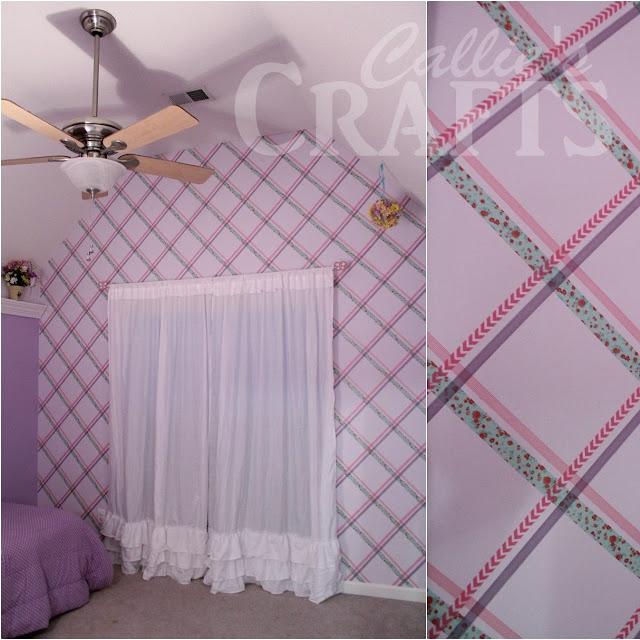 Washi Tape wall pattern that looks like wallpaper