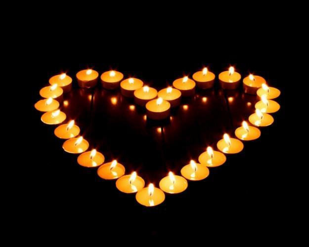 A magia e a luz do coração...