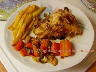 Κοτόπουλο τηγανιτό με λαχανικά
