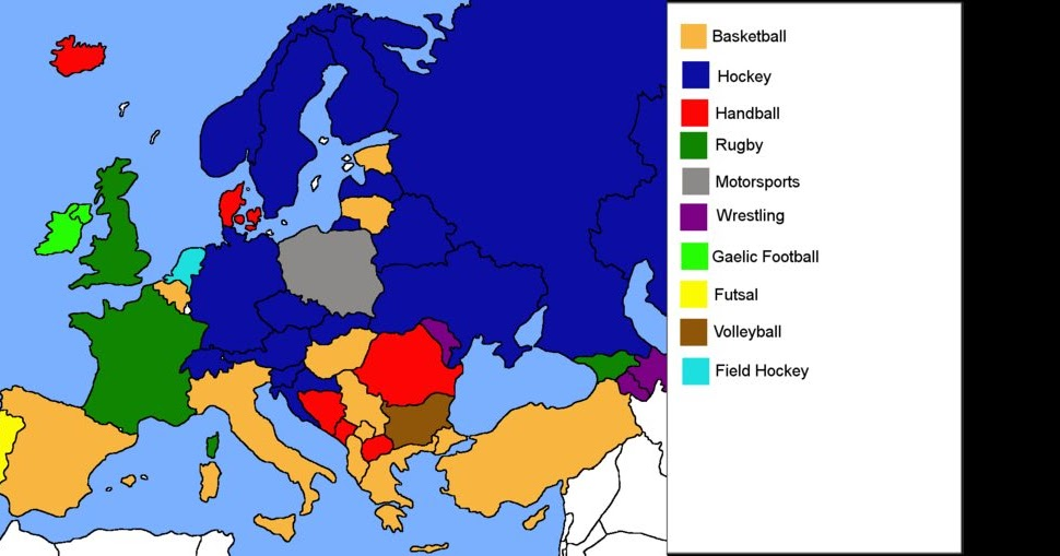 Landkartenblog: Die beliebtesten Sportarten in Europa ...