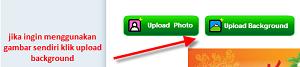 upload saja gambar dengan mengklik Upload background