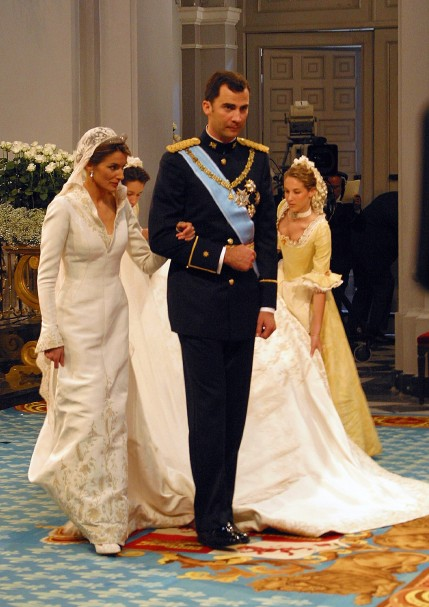 princess letizia wedding. and Princess Letizia