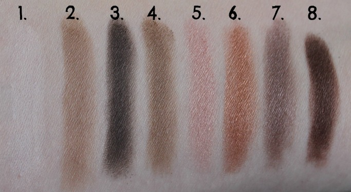 XO Pony X Memebox Eyeshadow Palette Shine Easy Glam #1 swatch swatches