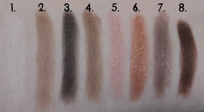 XO Pony X Memebox Eyeshadow Palette Shine Easy Glam #1 swatch swatches