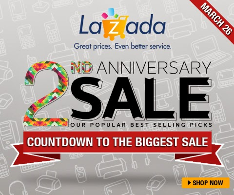 Aside from the social media contest, Lazada will also be launching their 2nd  Anniversary Blow-Out Bargain, which will offer up to 90% off and.