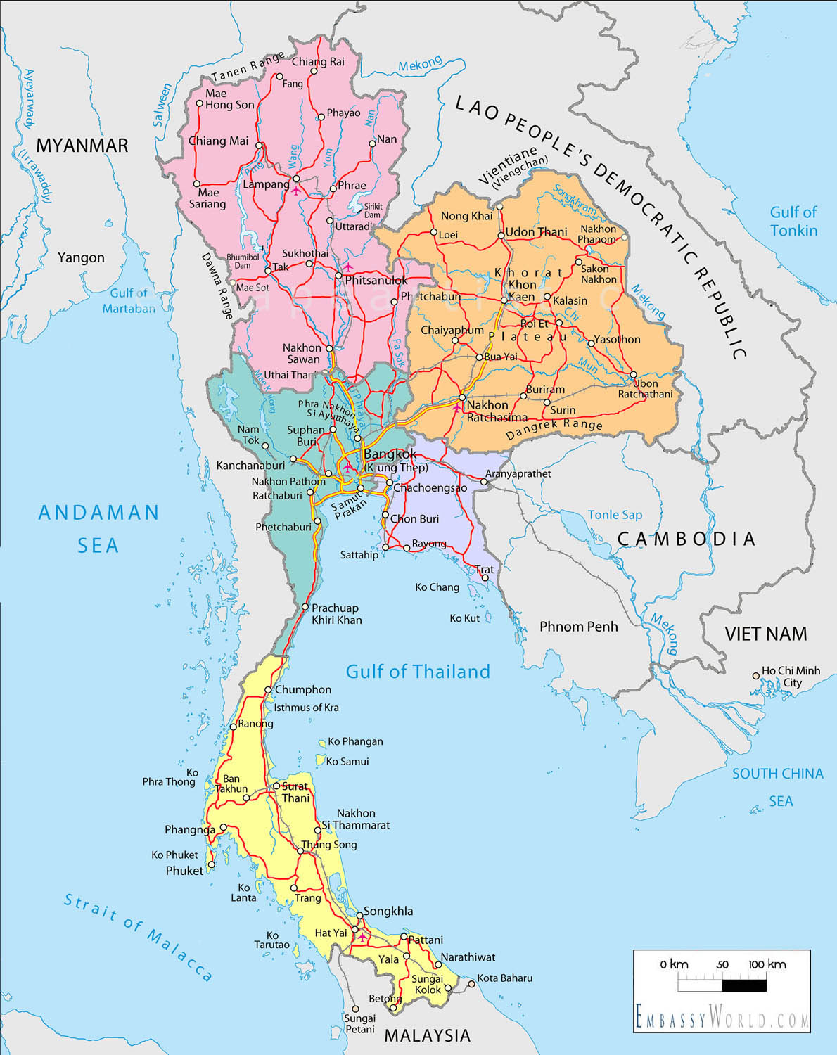 Samui Thailand  City new picture : Samui Attractions Places: Map of Thailand, Koh Samui, Hoh Phangan ...