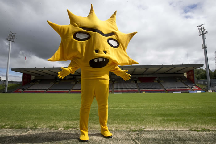 Partick Thistle football mascot Kingsley