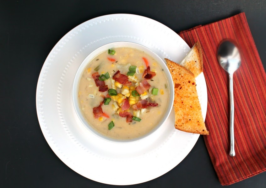 Favourite picks from Simple Supper Tuesday- Roast Corn Chowder by Foody Shmoody