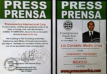 ACREDITACION OFICIAL PRENSAMERICA INTERNACIONAL CORP.