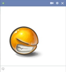 Furious Emoticon For Facebook