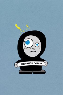 Too much coffee iPhone wallpaper
