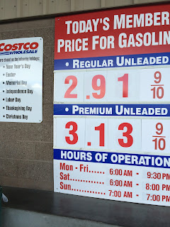 Costco gas for Feb. 28, 2015 at Redwood City, CA