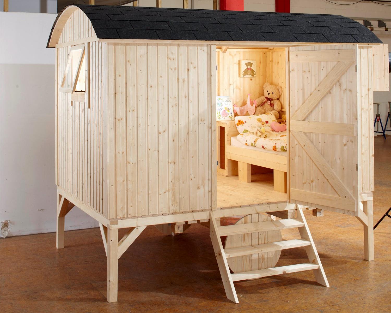 Meiselbach mobilheime kinder bauwagen als schlafwagen - Bauwagen selber bauen ...