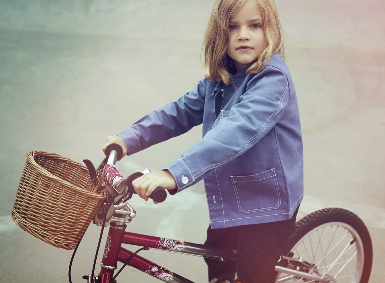 Vintage inspired German Mechanic's jacket by sustainable kidswear brand The Fableists