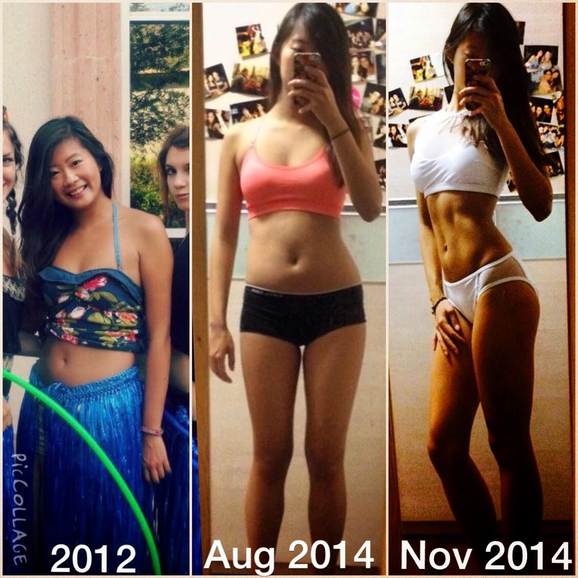 Fitness Transformation Progress Photo Abs Asian Girl Bodybuilding