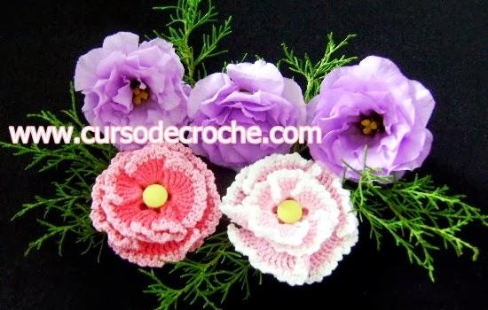 dvd flores em croche cinco volumes video-aulas na loja curso de croche com frete gratis