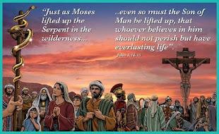 João 3:14 E do modo por que Moisés levantou a serpente no deserto, assim importa que o Filho do Hom