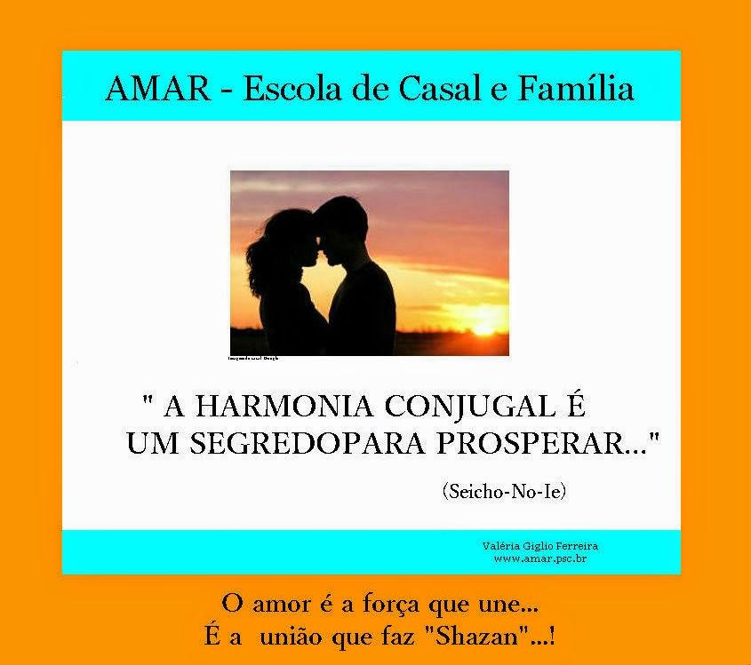 Harmonia Conjugal...é graça divina, mas, também trabalhar a relação...