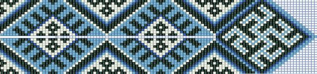 Схемы герданов гайтанов свастичных симвлов бисероплетение славянский орнамент