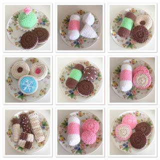 beställa virkade kakor till salu försäljning barnfika inspiration barnrum present