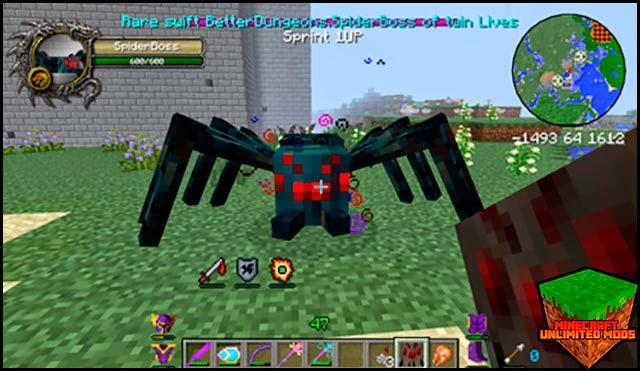 Hexxit Mod Pack ATLauncher Minecraft araña boss