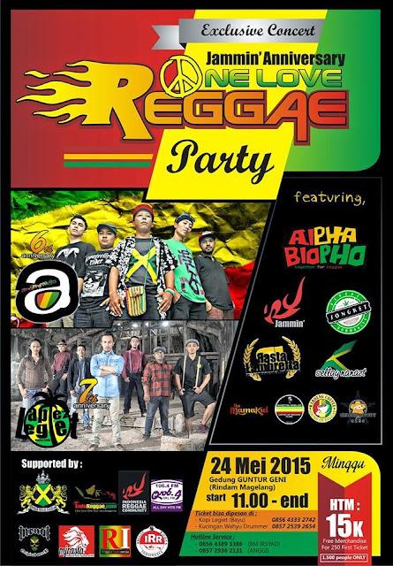 Event : Jammin Anniversary One Love Reggae Party