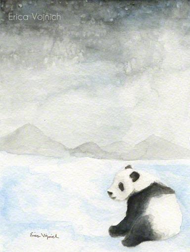 Panda Art Snow