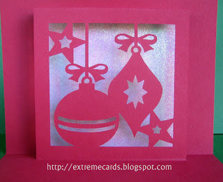 Christmas ornament pop up card